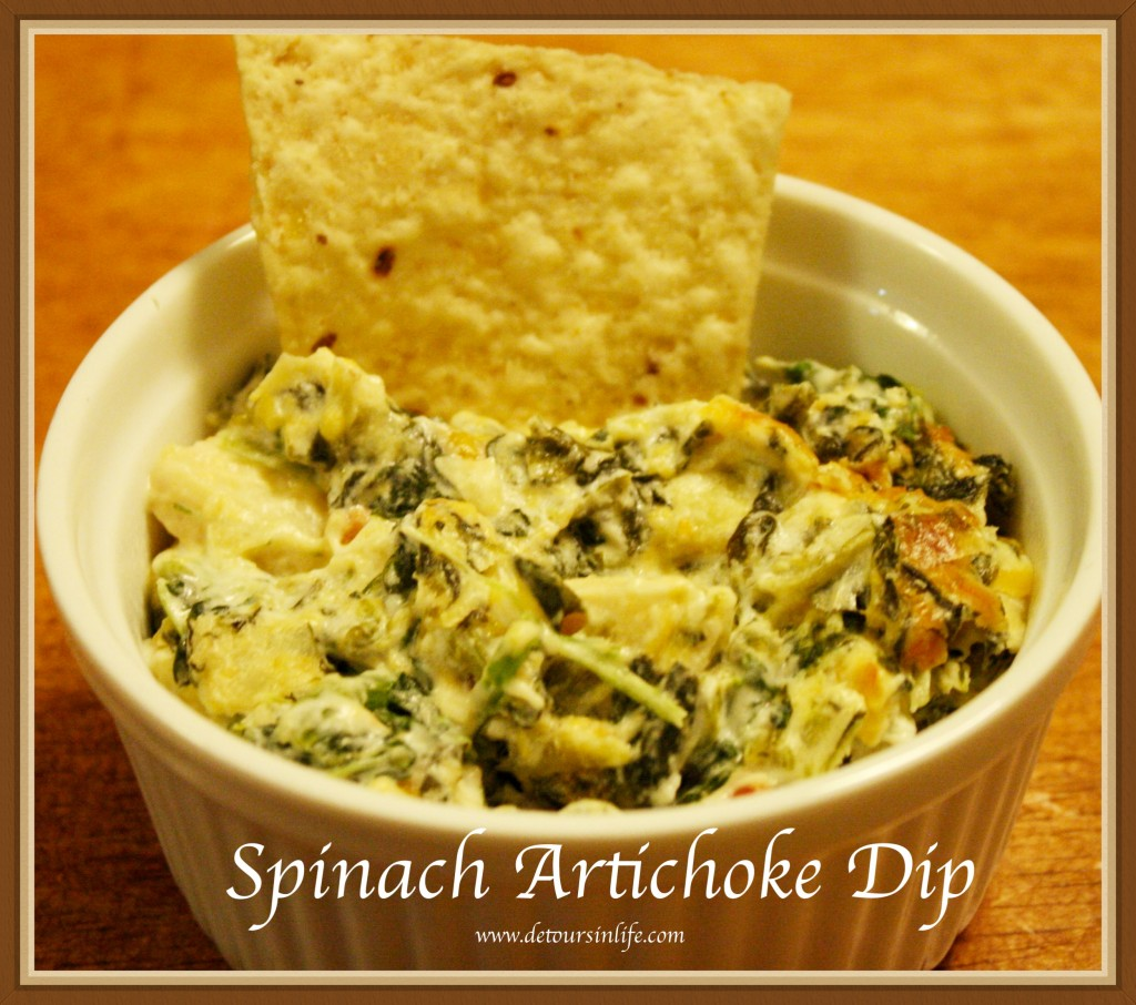 Easy Spinach Artichoke Dip - Detours in Life