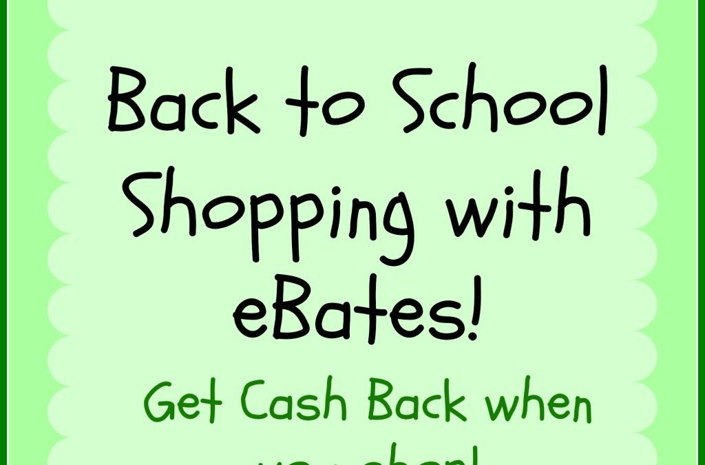 Back to School Shopping with eBates!