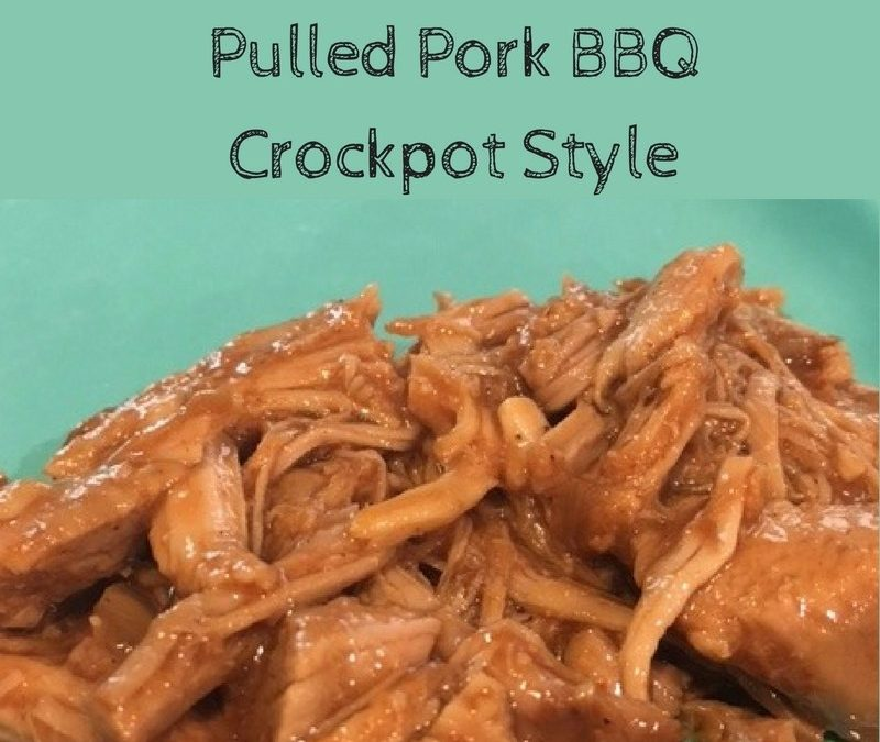 SUPER EASY PULLED PORK BBQ – CROCKPOT STYLE!