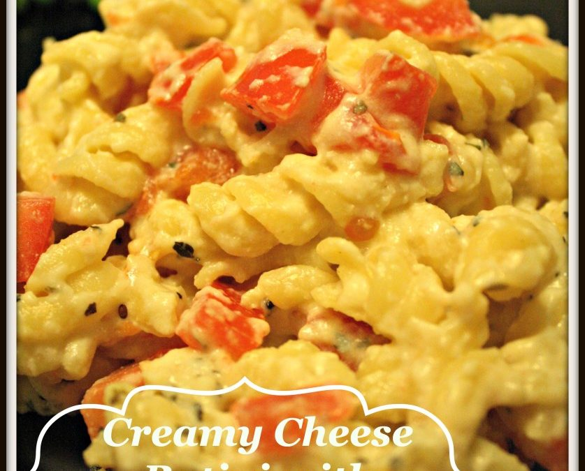 Creamy Cheese Rotini with Garlic