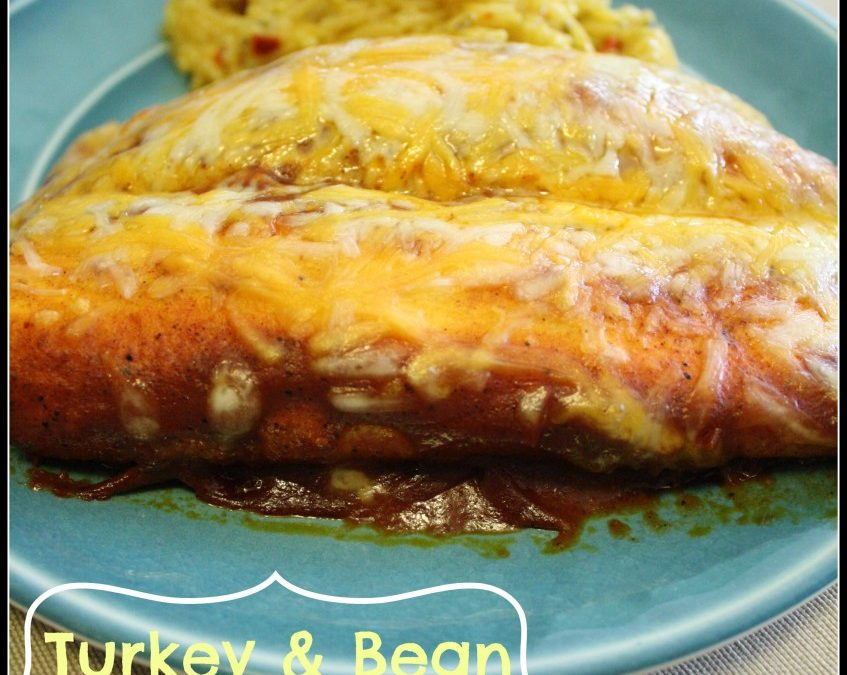 Turkey Bean Enchiladas